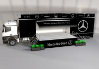 mercedes mobil sahne